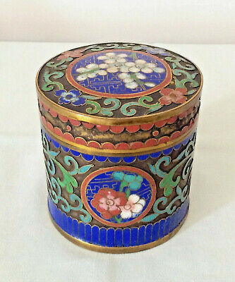 Chinese Cloisonne Antique Box With Cover 19/20Th C
