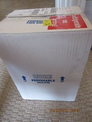 Tall Insulated Shipping Cooler 12 by 8 by 5 Inch Interior Dimensions