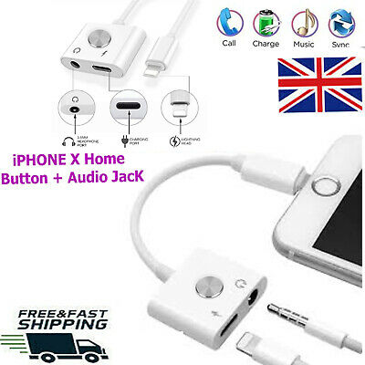 2in1 Lightning to 3.5mm headphone Earphone Jack Audio Cable Adapter iPhone X lot