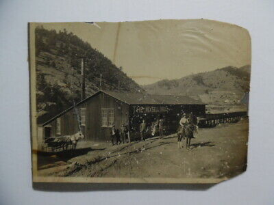 c.1900 Mixsell Mill Mine Mounted Photo Idaho Springs Colorado Antique Original