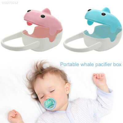 699B Snake Small Pacifier Storage Box Durable Pink/Blue Pacifierholder