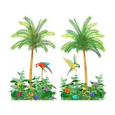 Pack of 2 x 5ft Giant Palm Trees Hawaiian Scene Setter Party Decorations - New