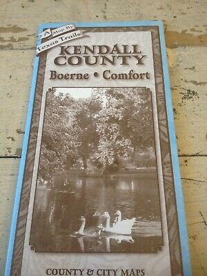 Kendall County Texas Cities of Boerne & Comfort New Original County & City Map.
