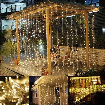 LE LED Curtain Lights, 9.8x9.8ft, 306 LED, 8 Modes, Plug In Twinkle Lights, For