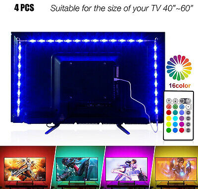Led Strip Lights 6.56ft For 40-60in TV, PANGTON VILLA USB LED TV Backlight Kit