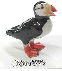 "Little Critterz Miniature Porcelain Animal Figure Horned Puffin ""Swimmer"" LC568"