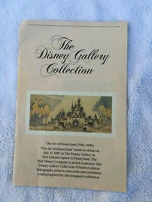 Disneyland Walt Disney Gallery Open Year Brochure - MAKE OFFER!