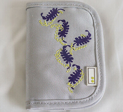 Storage Wallet for Memory cards folder SD Compact Flash Aha Botanicals Purple
