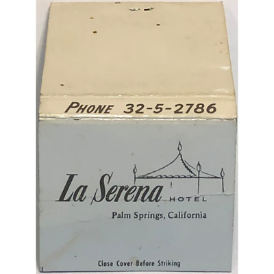 Vintage California Matchbook La Serena Hotel Palm Springs Cover Only 1950s 1960s