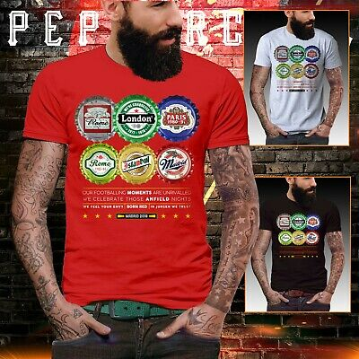 Liverpool road to madrid t shirt Final Champions Prem league bottle top beer
