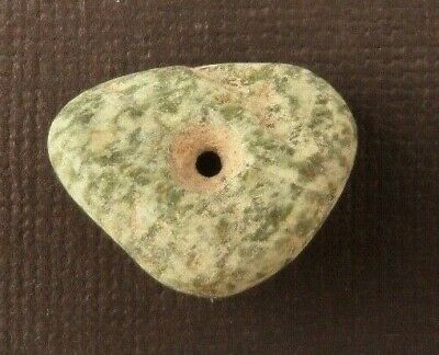 Ancient Pre-Columbian JADEITE BEAD 22mm x 8mm (6 grams)