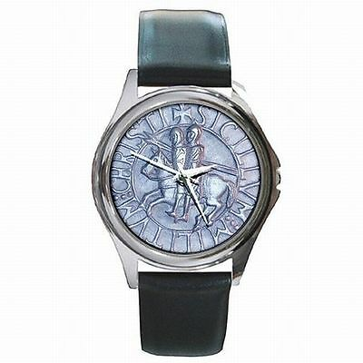 Templar Knights Holy Cross Medieval Seal Leather Watch New