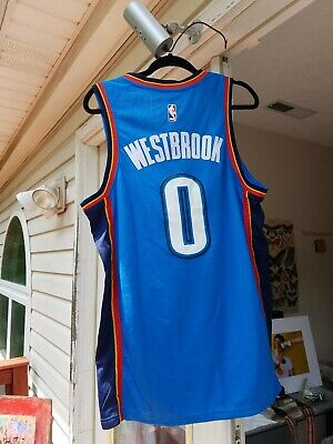 0055dd78092 Nike Large NBA Oklahoma City Thunder Russell Westbrook  0 Swingman Icon  Jersey