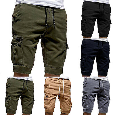 Men Slim Fit Shorts Pants Cargo Military Combat Summer Casual Work Gym Trousers