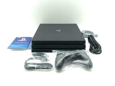 Sony PlayStation Pro 1TB Black 4K Home Gaming Console with Controller and Cables