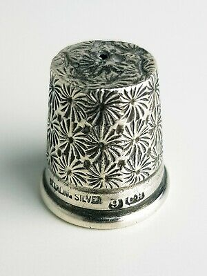 Antique Sterling Silver Thimble Charles Horner Chester (size 9)