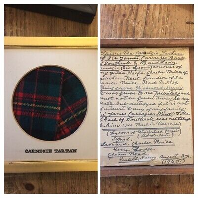 Sir James  Carnegie Scottish Tartan 5th Baronet Gifted By Family Descent