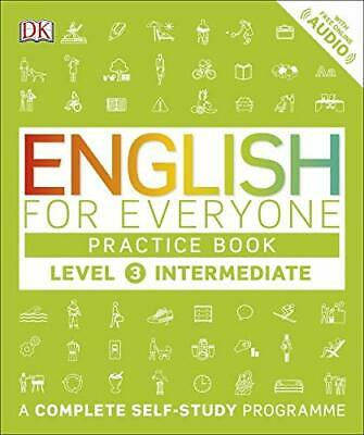 English for Everyone Practice Book Level 3 Intermediate New Paperback Book