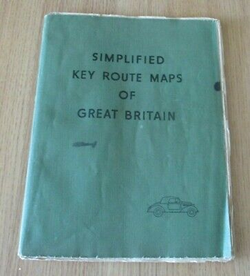 Simplified Key Route Maps of Great Britain 1937 W & A K Johnson