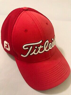 Titleist FootJoy Hat Pro V1 by New Era Red Golf Hat Size Small - Medium