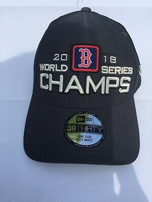 f3759389481362 New Boston Red Sox New Era World Series Champs 39Thirty 2018 Hat OSFA Men's