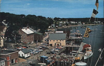 Castine,ME The Water Front Hancock County Maine Chrome Postcard Vintage