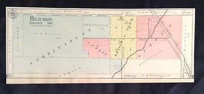 1870 & 1903 Vintage Lot Knox County Illinois Atlas Maps Hermon Chestnut Township