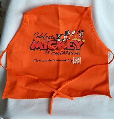 Home Depot Kids Workshop CELEBRATE MICKEY 75 InspEARations Apron New