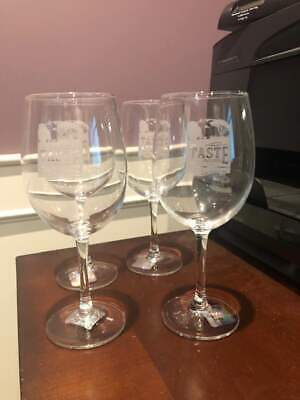 "4 Detroit Lions NFL ""Taste of the Lions"" 2019 Wine Glasses Souvenir Unique"