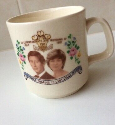 Vintage Diana And Charles Wedding Mug - 1981 Australia