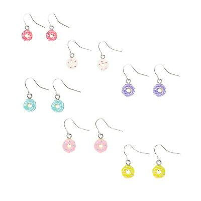 8ffe129b017f5 NWT CLAIRE'S GIRLS set of 6 sparkle Glitter Donut Drop Earrings Set