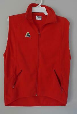 Lawn Bowls Clearance: DOMINO Red Size 12 micro-polar fleece vest POST INCLUDED