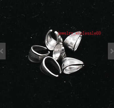 High Quality Stainless Steel Pendant Pinch Clip Clasp Bail jEWELRY Connector DIY