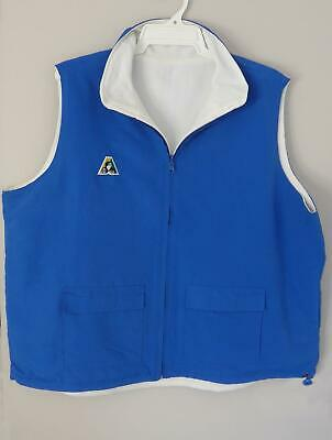 Lawn Bowls Clearance: NEW Domino Reversible Vest Sz 20 Light Royal POST INCLUDED