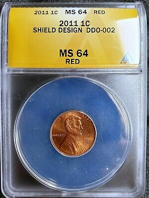 2011 Lincoln Shiel Cent -Doubled Die Obverse - ANACS Certified MS64RD - DDO-002