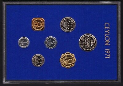 Ceylon Coinage 1971 Central Bank of Ceylon Proof Like Set
