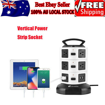Surge Protector Power Board 10/14 Way Socket Outlets with 4 USB Charging Charger