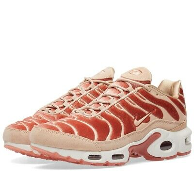 Details about NIKE AIR MAX PLUS LX TUNED 1 SUEDE VELVET PARTICLE ROSE PINK AH6788 600