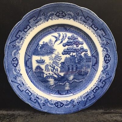 Vintage Booths Teapot Lowestoft Deer Silicon China Blue White Antique Numbered Booths