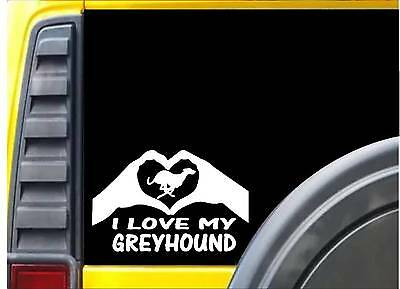 Greyhound Hands Heart Sticker k039 8 inch dogracing muzzle decal