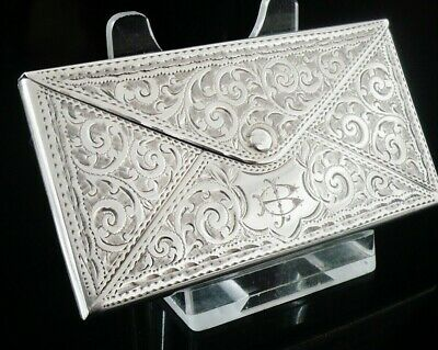 Silver Novelty Envelope Card Case, Birmingham 1906, Adie & Lovekin Ltd