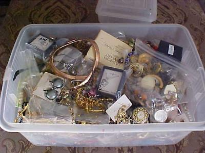 Vintage Jewelry Lot-15 Piece Wearable-Resale-Estate GOOD-1940's-today