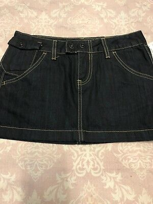 e0eadf1c6107 HIDOC 1966 Women's Skirt Denim Dark Wash Mini Skirt Size Junior Med NWOT