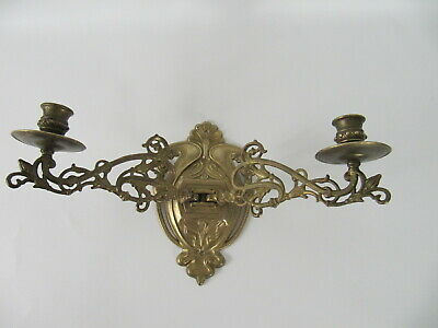Wandleuchter doppelarmiger Kerzenleuchter Messing candle holder brass