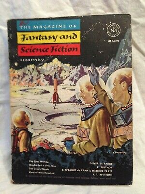 Magazine of Fantasy & Science Fiction, Feb 1953, Sprague De Camp, Philip K Dick