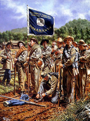 NOBLE BAND OF BROTHERS - VALIANT SONS OF ARKANSAS by Rick Reeves Art print
