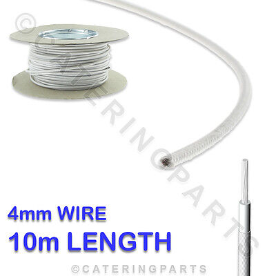 10m ROLL OF 4mm HEAT RESISTANT GLASS FIBRE CABLE WIRE 10 Metre x 4.0 HIGH TEMP