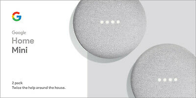 Google Home Mini - Chalk, 2-Pack,Powered by the Google Assistant, Hands-free