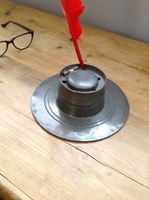 Antique 18th Century Pewter Ink Well  Stunning Condition
