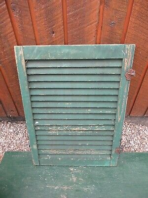"""VINTAGE OLD  SHUTTER Wooden 30"""" long x 22"""" Wide Architectural Salvage #16"""